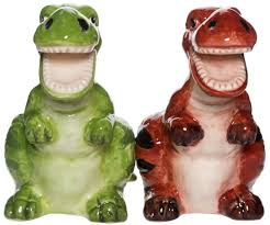 dinosaurs salt u0026 pepper shakers sourpuss clothing
