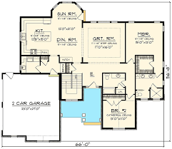 garage floor plans open concept home with side load garage 89912ah architectural