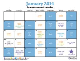 january beginner workout calendar kickstart your healthy habits