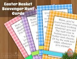 Easter Egg Hunt Ideas Easter Basket Scavenger Hunt Cards My Kids Love It When I Put