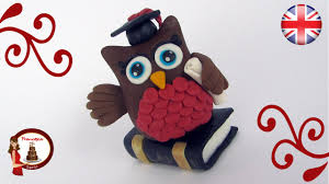 owl cake toppers fondant owl cake topper for a graduation cake