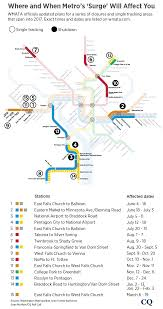 Washington Metro Map by Metro Releases Final Plan On Repairs To Rail System