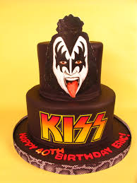 kiss cake rocker cake rock n roll gene simmons kiss fun