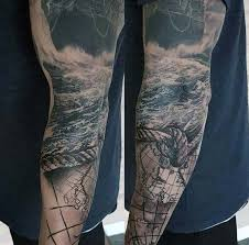 40 nautical sleeve tattoos for men seafaring ink deisgn ideas