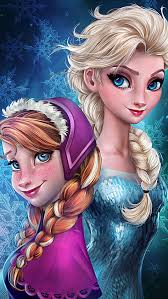 frozen elsa u0026 anna digital fan art wallpapers