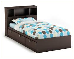 Twin Bed Frame With Headboard by Twin Bed With Bookcase Headboard And Storage U2013 Lifestyleaffiliate Co