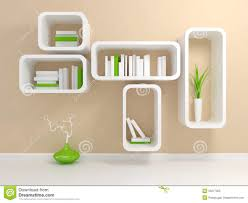 modern white bookshelf royalty free stock photo image 23277055