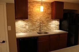 Kitchen Stone Backsplash by Stone Backsplash Ideas Kitchen Traditional With Blue Wall