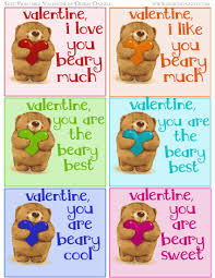 free bear valentine printables