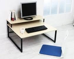 multi tiered computer desk deals blmg multi 2 tier computer floor desk workspace pinterest
