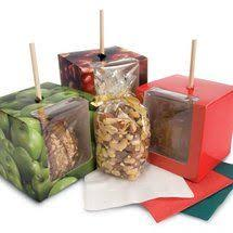 wholesale candy apple supplies candy apple box with on top 4 x 4 x 4 100 pieces 253 fs56