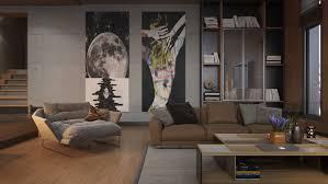 home design art on popular orange and black interior artwork ideas