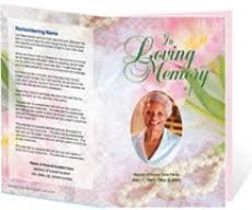 Downloadable Funeral Program Templates The Funeral Programs Site Offers New Memorial Microsoft Templates