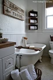 farmhouse bathrooms ideas bathroom walls and wainscot painted white wood accents