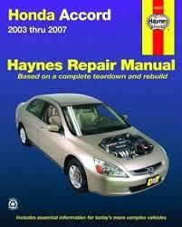 honda accord 2003 2007 haynes service repair manual pdf free