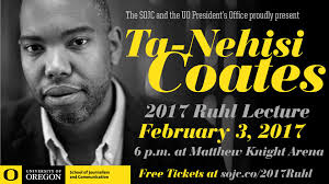 ta nehisi coates coming to uo department of anthropology