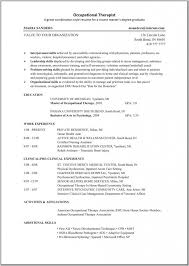 Sample Volunteer Resume by Ot Resume Best Free Resume Collection