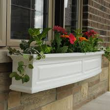 Window Sill Planter by Mayne Yorkshire Rectangle Vinyl Window Box White Hayneedle