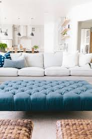 Tufted Coffee Table Brilliant Impressive Blue Ottoman Coffee Table Best Ideas About