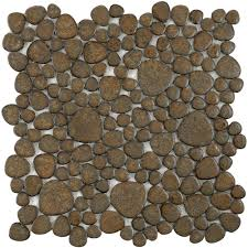 merola tile pebble brownstone 11 in x 11 in x 6 mm porcelain