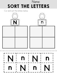 alphabet adventures letter n kindergarten literacy and activities
