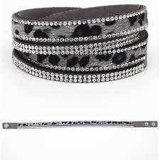 rhinestone leather wrap bracelet images Wrap bracelets jewellery picker jpg