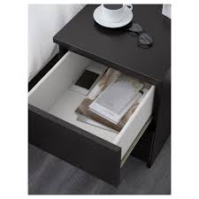 Malm Side Table Malm Chest Of 2 Drawers Black Brown 40x55 Cm Ikea