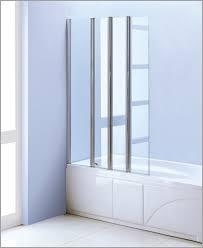 Folding Bathtub Doors Shower Veil Trackless Shower Doors Folding Tub Doors Abc Home