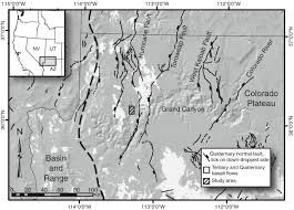 Western Colorado Map by Deformation Associated With A Continental Normal Fault System