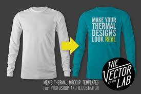 men u0027s thermal mockup templates by thevectorlab on creativemarket