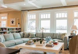 Classic Family Home With Coastal Interiors Home Bunch  Interior - Family room cabinet ideas