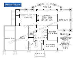 Slab Foundation Floor Plans Walkers Cottage House Plan House Plans By Garrell Associates Inc