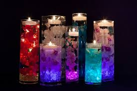 Floating Candle Centerpieces by Centerpieces With Led Lights And Floating Candles