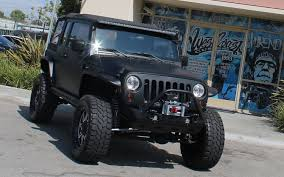 jeep custom west coast customs builds custom jeep wrangler for shaquille o