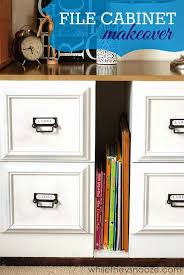 files cabinet by awesome table i love this metal file cabinet turned awesome from sarah athttp