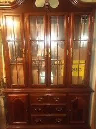 thomasville glass kitchen cabinets thomasville china cabinet cherry hutch traditional ebay
