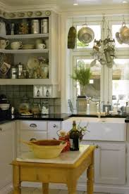 kitchen window above sink hanging pot rack kitchen appliances