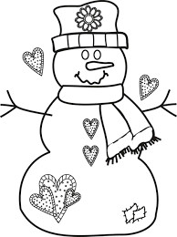coloring book pages snowman frosty the free winter kindergarten