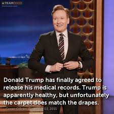 Match The Drapes Joke Donald Trump Has Finally Agreed To Release His Med