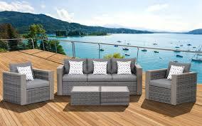 Conversation Sets Patio Furniture - amazon com atlantic 5 piece mustang wicker conversation set with
