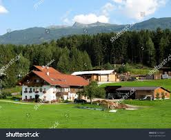 aldrans tyrol austria farm austrian alps stock photo 72116971