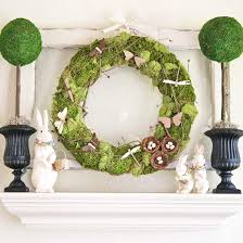 Easter And Spring Door Decorations real home spring and easter mantel decorating ideas mantels