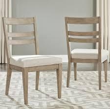 Slat Back Dining Chairs One Allium Way Amina Contemporary Slat Back Upholstered Dining