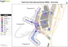 Map International Nashville Nashville International Bna Airport Terminal Maps
