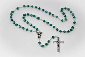 baby rosary direct from lourdes baby jesus diamond cut emerald rosary