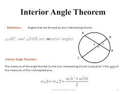 Define Interior Angle Circle Unit Part 4 Angles Ppt Download