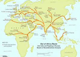 Map Of East Africa by This Pin Shows The Dates And Routes Of Human Migration Out Of East