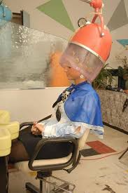 sissy boys under hair dryers he sat quietly and patiently while his dryer under the dryer