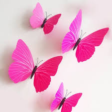 wall stickers 12 pcs 3d pvc magnet butterfly sticker design