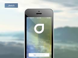 sign in apple ios7 screen sketch freebie download free resource